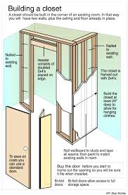 How to frame a closet Existing How To Frame Closet Door How To Build Closet Building Closet To An Manosquehablanco How To Frame Closet Door Manosquehablanco