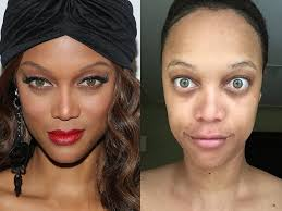 celebrities without makeup tyra banks
