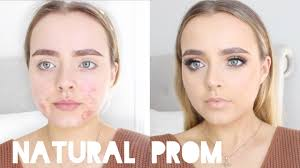 natural prom makeup look acne coverage conagh kathleen