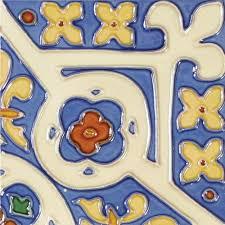 6X6 Decorative Ceramic Tile Solistone HandPainted Corona Deco 100 in x 100 in Ceramic Wall Tile 79