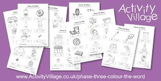 The decodable words for phase three are also provided. New Phonics Phase Three Colour The Word Worksheets