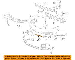 genuine gm parts 21997968 front per molding genuine general motors parts