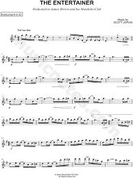 Jam 001 (fulآ alto sax. Scott Joplin The Entertainer Eb Instrument Sheet Music Alto Or Baritone Saxophone In G Major Download Print Sku Mn0209827