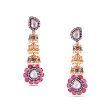 fascinating multi color chandelier earring mads d28