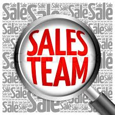 sale word sales team sale word cloud with magnifying glass business concept