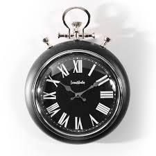 farrow and bentley pocket watch wall clock black