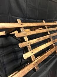 vintage dutch wooden sled old childs
