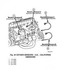 jeep wrangler tj oxygen (o2) sensor Jeep 4 Cylinder Engine Diagram Jeep 2.5 Engine