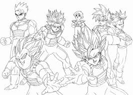 Coloring Pages Of Dragon Ball Z Characters 28 Collection Ultra