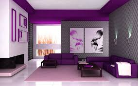 Purple Decor For Living Room Interior Decor Living Room With Purple Sofa Softeny