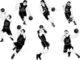 イラスト スポーツ モノクロ バスケットボール イラスト素材 417721