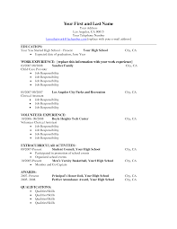 Resume For College Dropout With High School Senior Resume Template