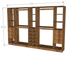 incredible ana white master closet system diy projects for build your own closet organizer