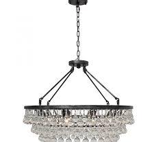 celeste glass drop crystal chandelier antique silver