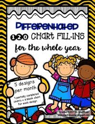 Differentiated 120 Chart Fill Ins For The Whole Year