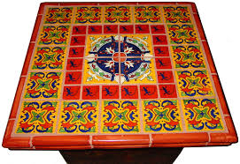 mexican tile decorating a table top mexican home decor projects gallery