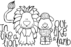 Coloring Pages Of Lions And Lambs