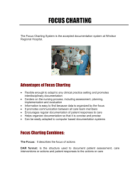 Nursing Charting Systems Focus Charting Windsor Regional Hospital