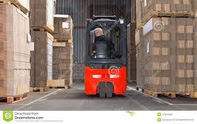 Forklift Driving Backwards Stock Image Image Of Concentration