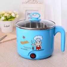 Nồi lẩu điện mini 1.5 lít - ca nấu mì 18cm đun nước siêu tốc 500W, giá chỉ  170,000đ! Mua ngay kẻo hết!