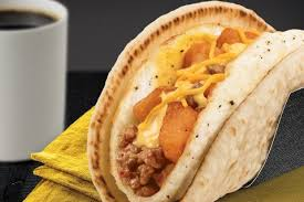taco bell breakfast taco.  Breakfast Taco Bell Unleashes A Breakfast With Fried Egg Shell In L