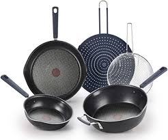 T-fal All In One Stackable 5 Pcs Pan Set, Cookware ... - Amazon.com