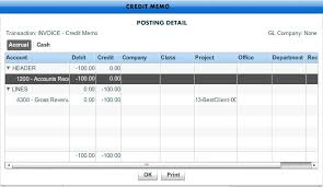 Manually Created Credit Memo Invoice Workamajig Online