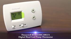 honeywell rth3100c1002 a digital heat cool pump thermostat youtube honeywell pro 3000 thermostat price at Honeywell Thermostat Pro 3000 Wiring Diagram