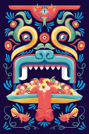 Mexican Style Graphic Design Trajinera On Behance In 2019 Aztec Art Mexican Graphic