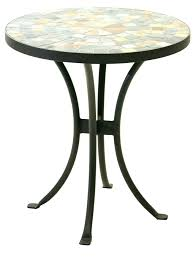 small metal patio side table outdoor retro white round medium size of tables best top kitchen