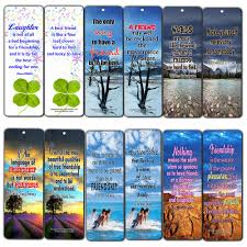 Amazoncom Creanoso Friendship Quotes Bookmarks Cards 60 Pack