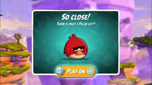 Angry bird 2 and the first game screen game play