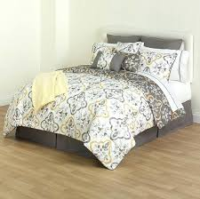 16 piece comforter set piece white gray yellow fl comforter bedding set king size in home