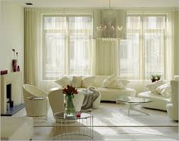 image of new living room window curtains