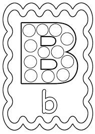 Coloriage Lettre B Colorier Ou Gommettes Imprimer En Fichier