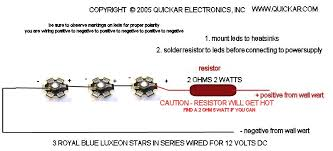 quickar electronics how to hook up leds choosing the correct led turn signal resistor wiring diagram quickar electronics how to hook up leds choosing the correct wiring scheme, the proper current limiting resistors and verifying performance
