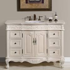 Silkroad Exclusive Ella Brown Undermount Single Sink Bathroom Vanity with  Natural Marble Top (Common: