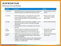 90 Days Plan Template Amartyasen Co