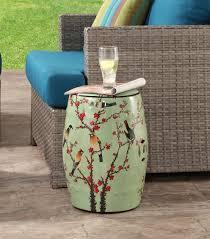 sakura ceramic garden stool robin s egg