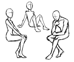 chair drawing easy. 736x612 Drawn People Easy Chair Drawing