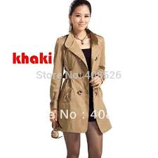 2016 new fashion women s slim fit double ted trench coat