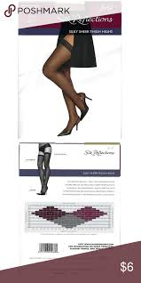 Hanes Thigh Highs Size Chart Hanes Silk Reflections Silky Sheer Thigh Highs New In