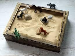 cereal box indoor sandbox