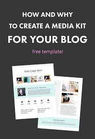 17 best images about starting a blog marketing how and why to create a media kit for your blog template