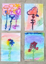 salt painting art work process art for kids