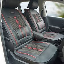 universal fit pu leather car seat cover cushion back support waist massage black 1 of 10free