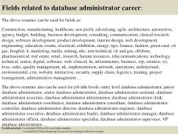 16 fields related to database administrator database administrator cover letter