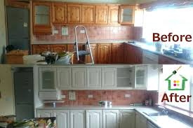 painting old kitchen cabinets before and after painting wood kitchen