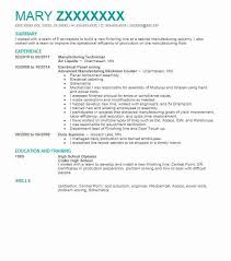 Engineering Technician Resumes Manufacturing Technician Resume Sample Livecareer
