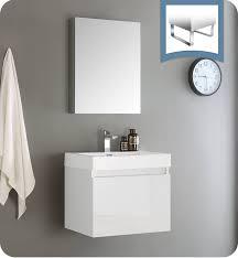 modern bathroom storage cabinets. Fresca FVN8006WH Nano 24\ Modern Bathroom Storage Cabinets